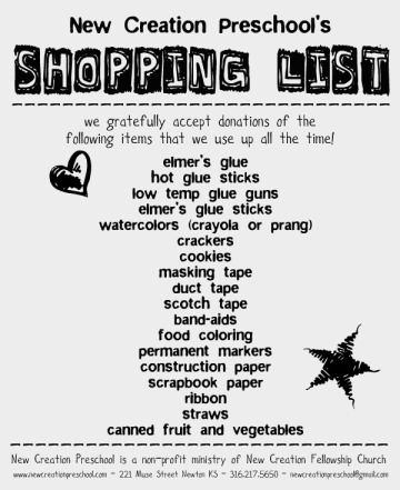 shopping list 11-12